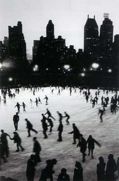ice skating in central park   at the wollman rink      Ice Skating in Central Park at the Wollman Rink. Photo by Bruno Barbey.    One of my favorite things. Its been far too long