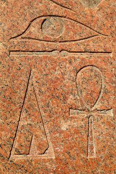 Hieroglyphs of Hatshepsut Temple in Egypt