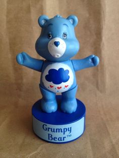 Grumpy Care Bear 3D Animator Figure Toy Push Button Puppet