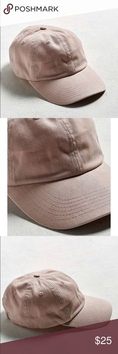 Blush color hat 🧞♀️ Super cute and new with tags. Never worn or tried on. Adjustable back :) Urban Outfitters Accessories Hats