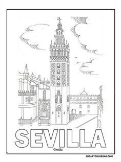 Blogcolorear Com Torre Del Oro De Sevilla Stitches Dia De Alucia