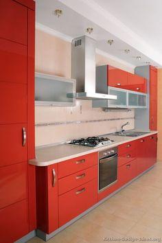 Modern Red Kitchen Cabinets 06 Design Ideas Org