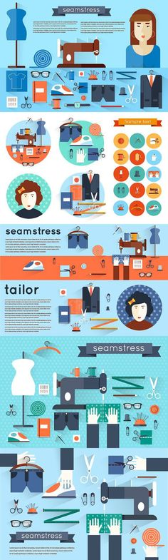 Seamstress workplace.. Clothes Icons. $18.00