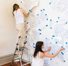 Cheap Home Improvement Ideas For Your Bathroom - Life ideas Hallway Wall Decor, Room Decor, Mural Art, Wall Murals, Wall Art Designs, Wall Design, Interiores Art Deco, Ideas Hogar, Bedroom Murals