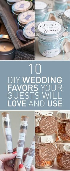 Your wedding favors don't have to be expensive & useless that your guests will throw them away once they get home. You can change that by creating your own wedding favors this way you'll make sure they're of use to your guests and you can even personalize them to each of your guests.