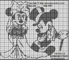 héros-cartoon-bd - mickey - point de croix - cross stitch - Blog : http://broderiemimie44.canalblog.com/