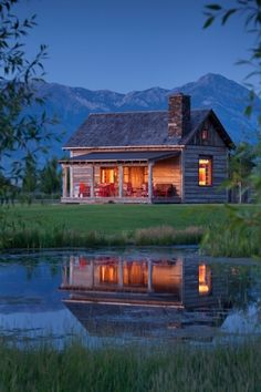 tiny and cute Montana guest house log cabin