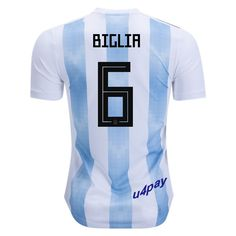 6e9b89c73 Lucas Biglia 6 2018 FIFA World Cup Argentina Home Soccer Jersey Team Gear