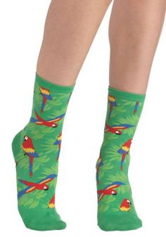 Wearable Whimsy Socks in Parrots, #ModCloth