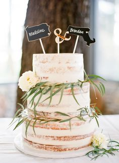 Madeline Bierbaum and Brendan Daly's Rustic Austin Wedding at Pecan Grove Wedding Cake Prices, Cool Wedding Cakes, Wedding Cake Toppers, Pretty Cakes, Beautiful Cakes, Bolo Original, Bbq Cake, Two Tier Cake, Brides Cake