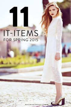 The 11 spring pieces