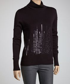 Take a look at this Plum Sequin Turtleneck by Nancy Yang on #zulily today! $30 !!