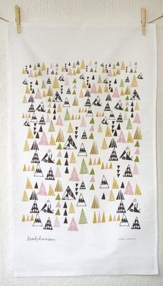 Triangles Tea Towel by Leah Duncan