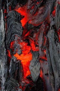 Lava fuego ceniza