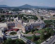 In 1882, shortly after the SW Virginia town of Big Lick changed its name to Roanoke (named after its river), Norfolk and Western Railroad built a Queen Anne style hotel as a rest stop for rail travelers. The railroad also built a city, buying up large tracts of land and dividing them into building lots for their employees. Before the railroad was built, Big Lick had only 100 houses and 600 citizens. The railroad, hotel, company headquarters and homes were all built at once.