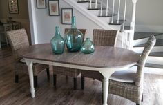 You may remember my Ballard Designs Messina faux zinc table knock off . We used it for our dining table for two years and it was great. French Kitchen Decor, Diy Kitchen Decor, Diy Home Decor, Coastal Decor, Kitchen Cabinets Models, Kitchen Models, Zinc Table, Dining Table, Dining Rooms