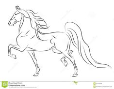 Photo about Vector running American Saddlebred horse sketch. Illustration of beautiful, breed, beauty - 27412508 Horse Drawings, Cute Drawings, Animal Drawings, Pretty Horses, Beautiful Horses, Horse Rearing, Horse Sketch, Horse Coloring Pages, American Saddlebred