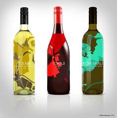 Wine bottle concept #graphic #design #art #medox #medoks #127 #wine #bottle #concept #hungary #hungarian #product #package #packaging #map #minimal #tokaj #tolna #balaton #designer #plan