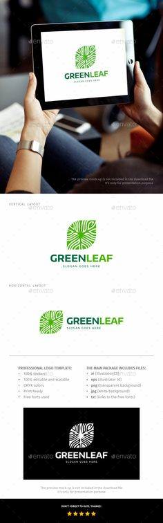 Leaf Logo — Transparent PNG #florist #healthy • Available here → https://graphicriver.net/item/leaf-logo/18394649?ref=pxcr