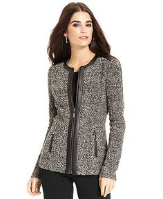 Jaclyn Smith- -Women's Plus Textured Tweed Jacket-Sears | Trend We ...