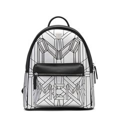 MCM Small Bionic Backpack In Silver