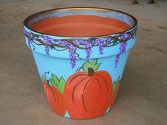 Kreatív gyűjteményem: Cserepek őszi díszítéssel