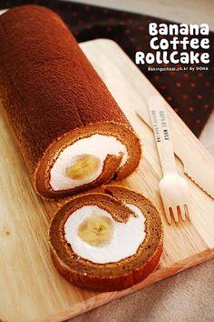 Banana Coffee Rollcake | Bakingschool.co.kr