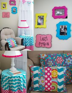Love the colors for her big girl room