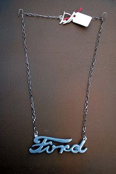 Ford Emblem | Recycled Car Parts Hi Octane Jewelry, via Flickr.