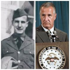 Spiro Agnew-Army-1941- Tank Commander and received a Bronze Star- (39th Vice President of the United States)