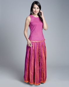 Skirt setCottonDrawstring Tie up Waist Sleeveless Round Neck TopHand Wash separately in cold water
