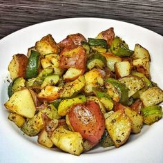 Roasted Zucchini and Red Potatoes