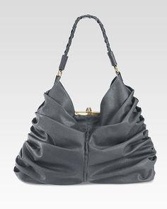 Frame Handbag with Ruching