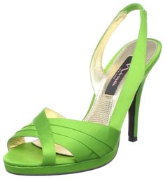 Lime Green Nina Slingback Sandals