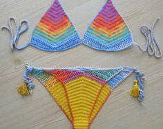 CARGA EXPRESS Colar Crochet Bikini traje de baño de por formalhouse