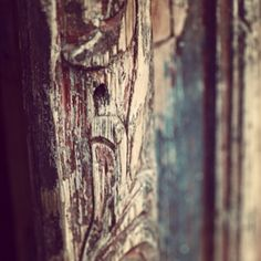 Beautiful carved wooden door. Photo by alidaryder