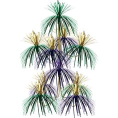 Buy Green, Gold and Purple Firework Chandelier Make sure your Mardi Gras party is the best it can be by having great decorations! This Green, Gold and Purple Firework Chandelier is just what you need to jazz up your party space. Red Party Decorations, School Decorations, Hanging Decorations, Halloween Decorations, Hanging Chandelier, Black Chandelier, Chandeliers, Graffiti, New Year Fireworks