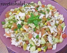 Ensalada libanesa con pan lavash RECETA ARABE http://www.recetashalal.com/ensalada-libanesa-con-pan-lavash/