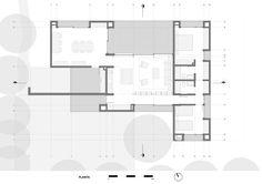 House-Workshop for an Artist,Ground Floor Plan