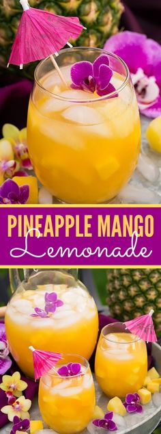 lemonade punch This year I chose to add a tropical wind to lemonade by making this inconceivably invigorating Pineapple Mango Lemonade! Consistently there are a co Mango Drinks, Pineapple Drinks, Pineapple Lemonade, Summer Drinks, Pink Lemonade, Fruity Drinks Non Alcoholic, Refreshing Drinks, Fun Drinks, Truffles