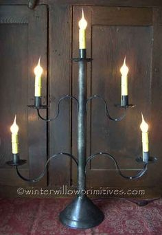 Definitely need this!!  Awesome look!  5-Light Tin Candelabra