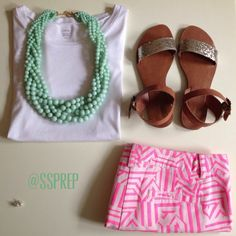 Sweet Southern Prep: Fashion Friday Not too crazy about the shoes but the rest is adorable