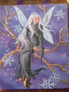 Snowflake Fairy - Finally, a fairy bundled up for winter!