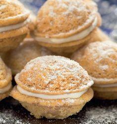Plnené orechy | Recepty.sk Christmas Goodies, Christmas Baking, Wedding Soup, Four, No Bake Cake, Cooker, Pancakes, Sweets, Breakfast
