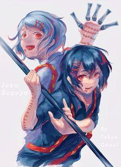 Juuzou Tokyo Ghoul, Juuzou Suzuya, Tsukiyama, Ayato, Kaneki, Cool Sketches, Weird Creatures, Best Series, Dark Anime