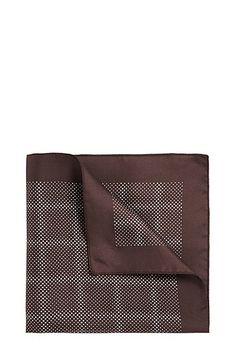 Polka-dot pattern silk pocket square: 'Pocketsquare 33x33cm'