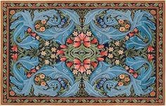 William Morris Panel rug - Beth Russell Needlepoint