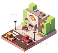 Buy Vector Isometric Milk Shop by on GraphicRiver. Vector isometric dairy store or milk shop with signboard and awning Isometric Art, Isometric Design, Milk Shop, Minecraft Designs, Affinity Designer, Home Icon, Personal Logo, Concept Architecture, Graphic Illustration