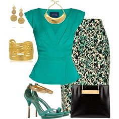 A fashion look from July 2014 featuring Safiyaa blouses, Louche skirts and Gucci sandals. Browse and shop related looks.