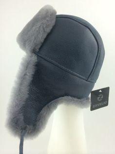 Russian Ushanka Genuine Shearling Sheepskin Fur Hat - Zavelio
